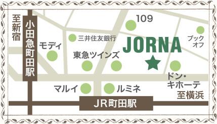 JORNAまでのマップ