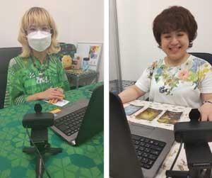 左:ジュンコエメラルド先生 右:葉山薫(はやまかおる)先生