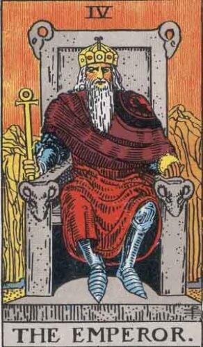 タロットカード「皇帝」
