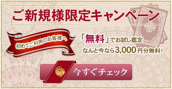 鑑定料金3,000円分無料キャンペーン