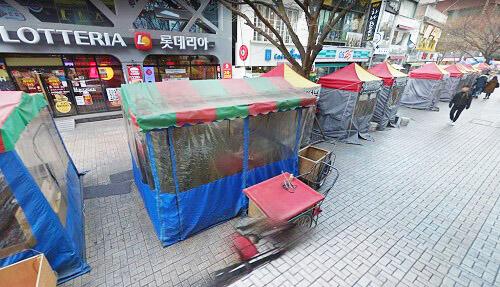 南浦洞 テント