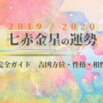 七赤金星の運勢と吉方位・性格・相性【2020年版 完全ガイド】