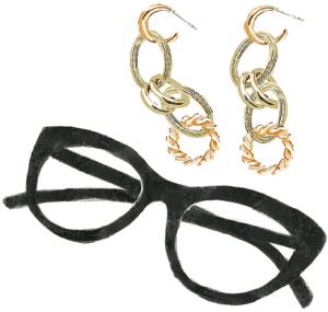 牡羊座の2021年のラッキーアイテムであるおおぶりのピアスと眼鏡