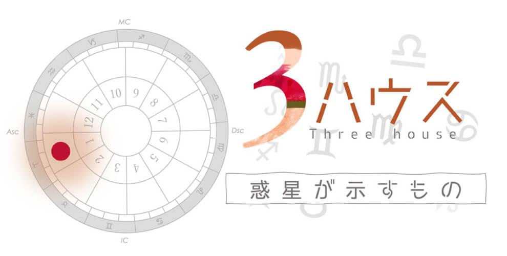 3ハウスの星が示すもの・惑星別の意味【西洋占星術・ホロスコープ】