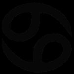 ホロスコープで蟹座を意味するマーク