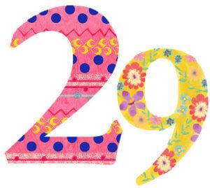 2021年魚座のラッキーナンバーである29