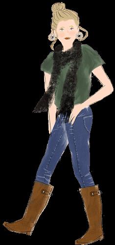 射手座の女性のファッションイメージ