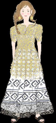 蟹座の女性のファッションイメージ