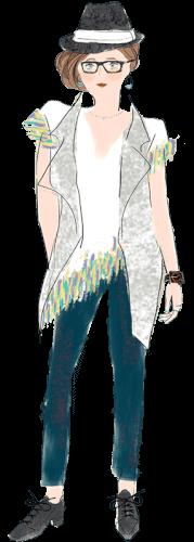 水瓶座の女性のファッションイメージ