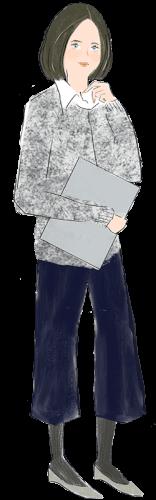 乙女座の女性のファッションイメージ