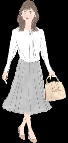 牡牛座の女性のファッションイメージ