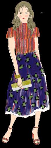 獅子座の女性のファッションイメージ
