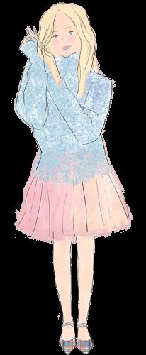 魚座の女性のファッションイメージ