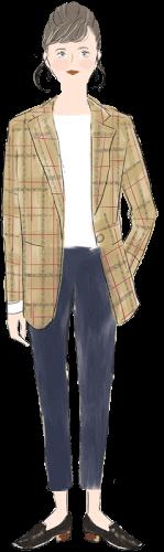 山羊座の女性のファッションイメージ
