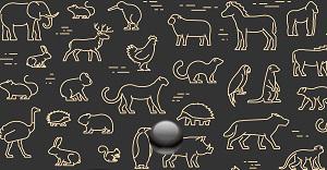 動物デザインの財布