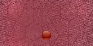 幾何学模様デザインの赤い財布