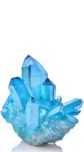 コバルトブルーの水晶クラスター1つが大きく描かれたイラスト待受