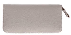 グレー色の長財布