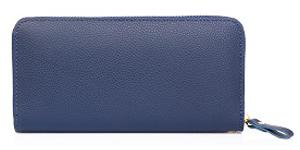 紺色の長財布