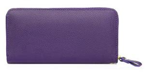 紫色の長財布