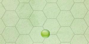 八角形デザインの緑の財布