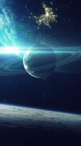 宇宙にある木星をリアルに表現した待受
