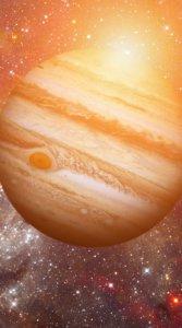 太陽の光を反映させたきらびやかな木星の待受