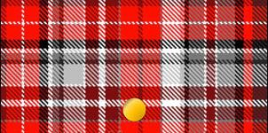赤・黒・白のチェック柄の財布
