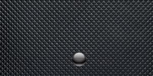 黒いゴム製の財布