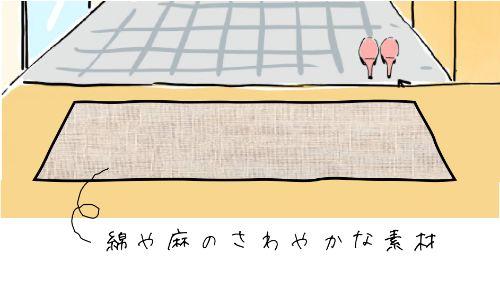 天然素材(綿・麻)の玄関マット