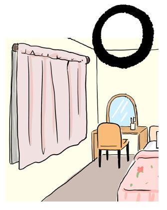 寝室には遮光カーテンが吉