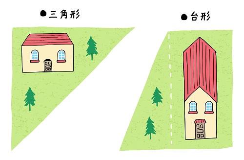 三角や台形の土地は要注意な地相