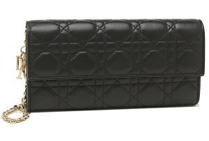 長財布 ショルダーバッグ レディース Dior S0020 OCAL 900 ブラック
