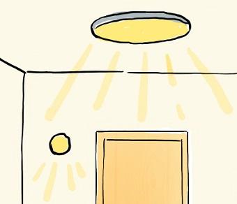 玄関は明るく保つ
