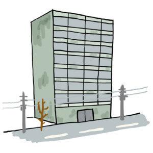 大地の良いパワーを受けにくい5階以上のマンション