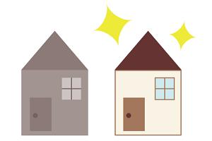 古い家と新しい家