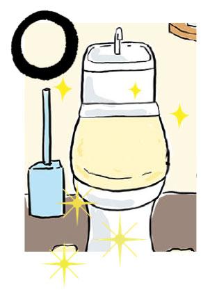 トイレが常に清潔であることは風水的にとても良い