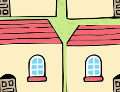 敷地めいっぱいに家を建てる