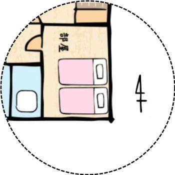 南東の寝室