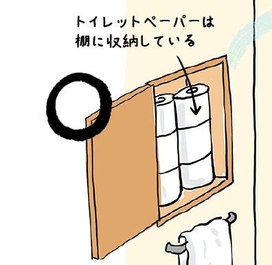 トイレットペーパーは収納棚に置くのが風水的にgood