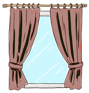 古いカーテン