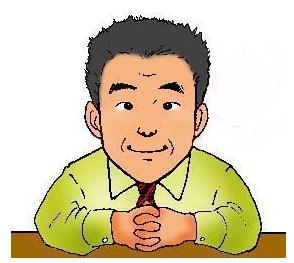 岡田一豆三先生のイメージイラスト