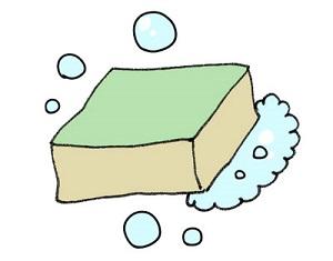 お風呂のスポンジと泡
