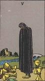 タロットカード 小アルカナ カップの「5」