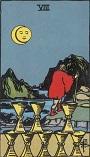 タロットカード 小アルカナ カップの「8」