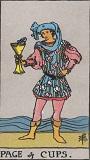 タロットカード 小アルカナ カップの「ペイジ」
