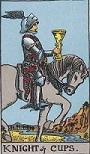 タロットカード 小アルカナ カップの「ナイト」